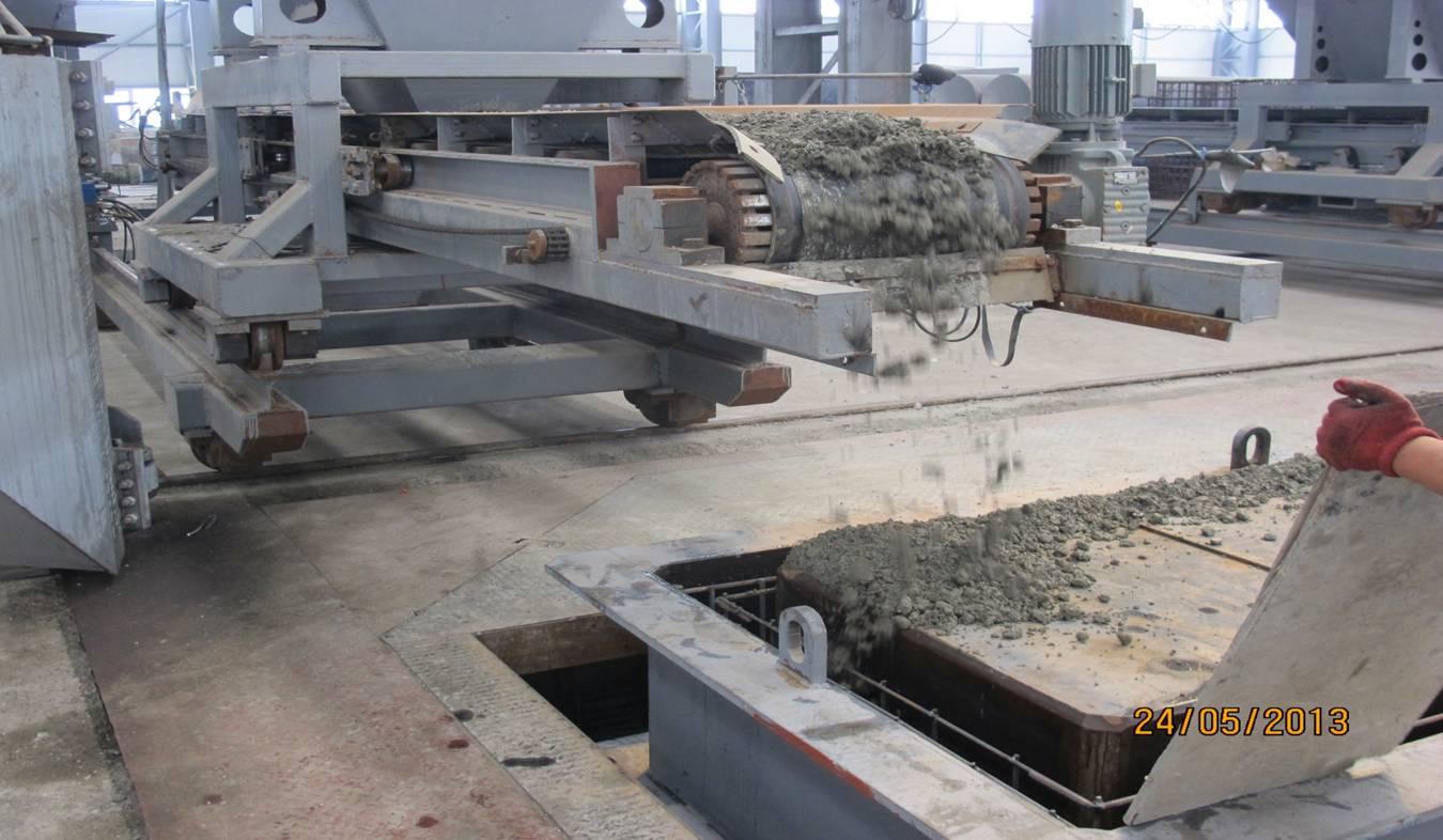 德国BFs公司振动生产工艺   采用干硬性混凝土